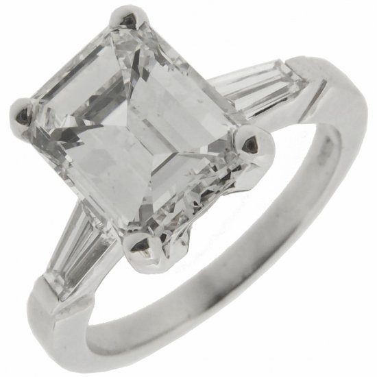Emerald Cut Diamond Ring- 2.04 cts F VS2