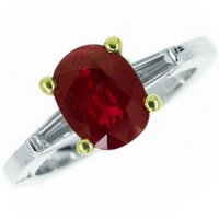 18k Ruby Solitaire Ring