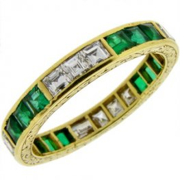 An Emerald and Diamond Full Eternity Ring