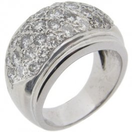 Diamond pave set ring set with 2 carats of sparking white diamon