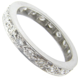 Diamond Full Eternity Ring. Brilliant Cut Diamonds - Click Image to Close
