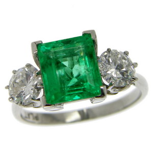 Vintage emerald ring 14370 000 hirschfelds ltd the home of larger image aloadofball Gallery