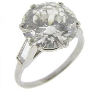 4.69 Carat Round Diamond Solitaire Ring - Click Image to Close