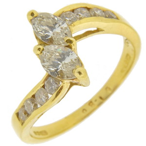 Marquise Diamond 2st Ring - Click Image to Close