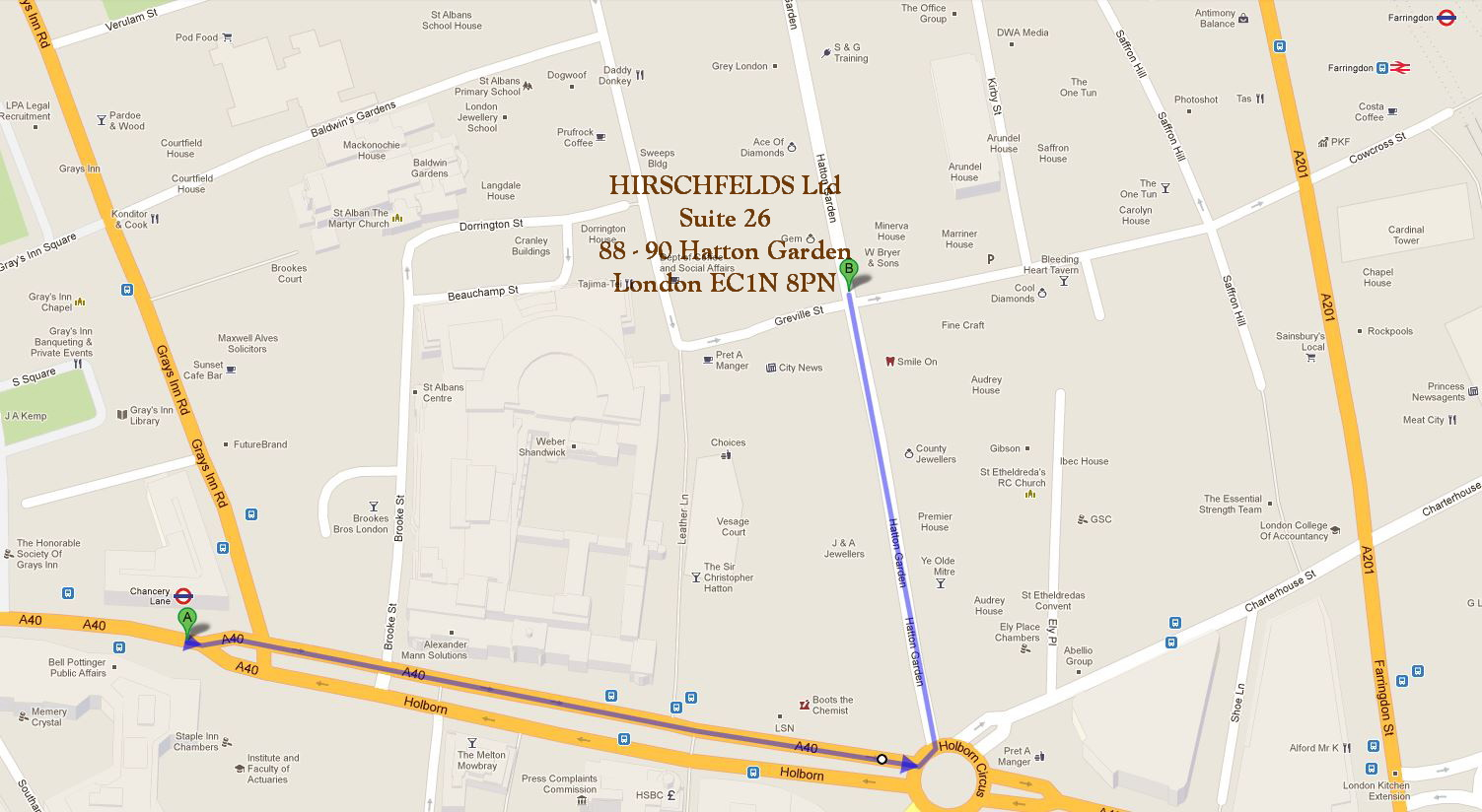 Hatton Gardens London Map Garden Ftempo