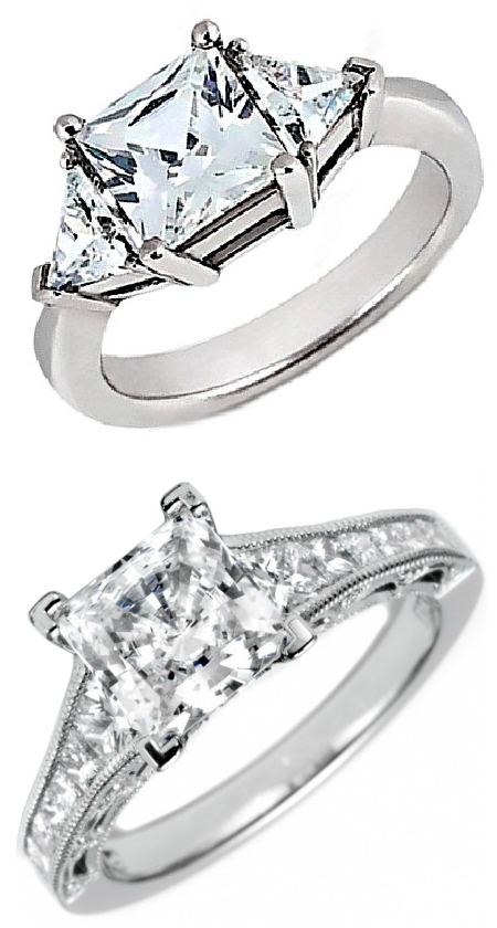 Princess Cut Diamonds and Princess Diamond Rings