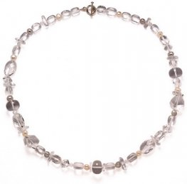 Clear Quartz and Black Pearl NECKLACE