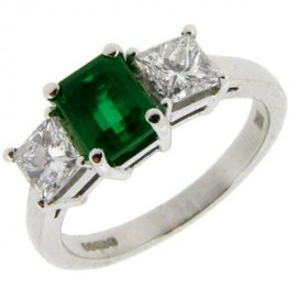 Classic Emerald & Diamond Engagement Ring