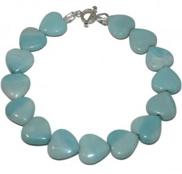 An Amazonite and Rock Crystal Necklace with Heart Amazonites