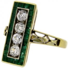 Antique Diamond and Emerald Ring - Gorgeous!