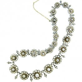 Victorian Old Cut Diamond Necklace
