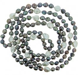 Grey and White Fresh Water Pearl Necklace