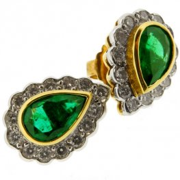 18 carat gold Emerald Earrings