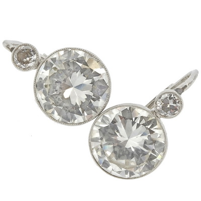 Anitique Diamond Earrings 8.00 carats
