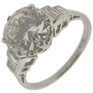 Art deco Solitaire ring 1.58 carats