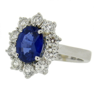 18ct Sapphire Cluster Ring