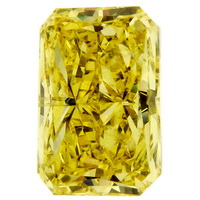 Fancy Vivid Yellow Radiant Diamond 1.09 cts