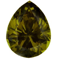 Olive Green Diamond - Pearshape 1.65cts